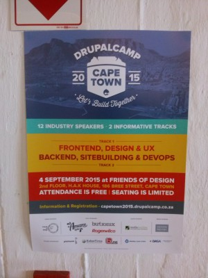 Drupalcamp Cape Town flyer