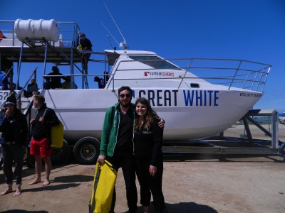 Before shark diving