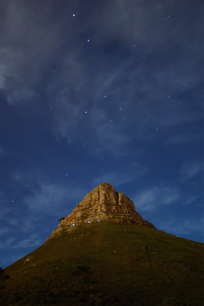 Lion's Head by night