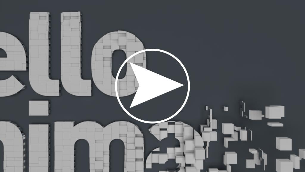 Hello 3D text animation