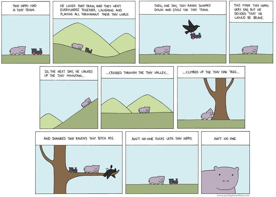 Tiny hippo comic